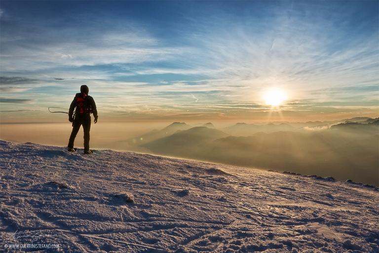 Altissimo tramonto con vento Guerrini Stefano