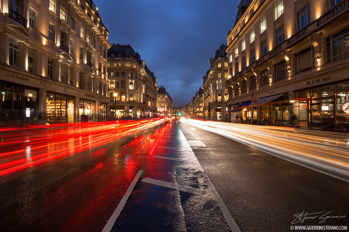 London trails of light by Guerrini Stefano