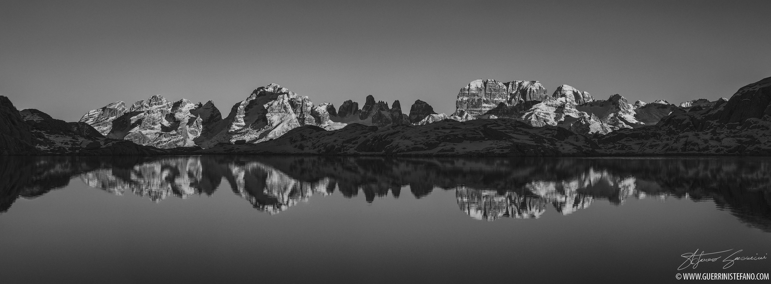 Pano Brenta 135mm 1000px BW by Guerrini Stefano