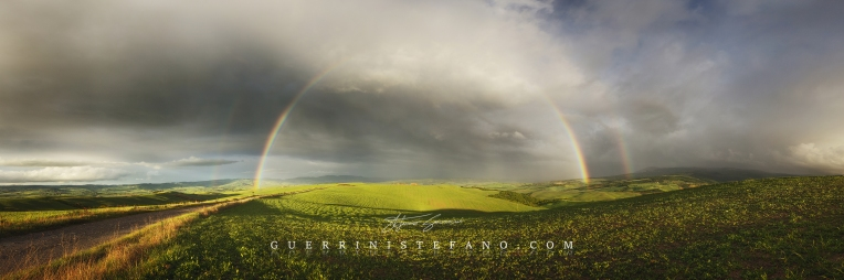 Arcobaleno Val d'Orcia 1000px by Guerrini Stefano