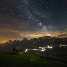 Dolomites hut Guerrini Stefano