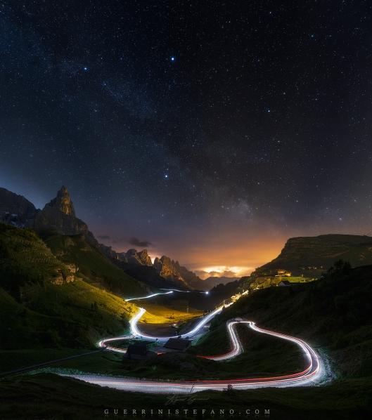 Scie di luce Dolomiti by Guerrini Stefano