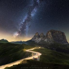 Milky way road by Guerrini Stefano