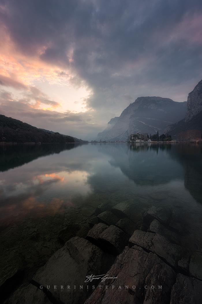 Lago di Toblino Tramonto Trentino by Guerrini Stefano