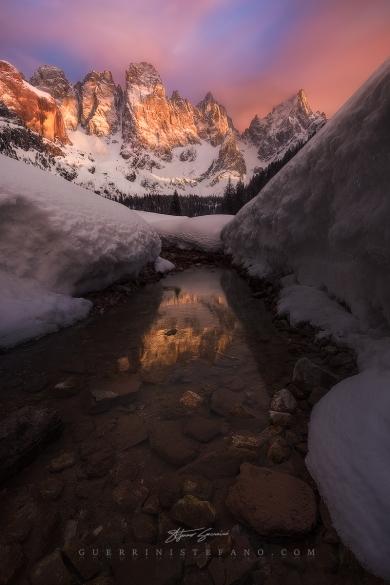 Tramonto Val Venegia - Pale San Martino by Guerrini Stefano