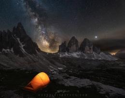 Tre Cime Lavaredo Milky Way Guerrini Stefano