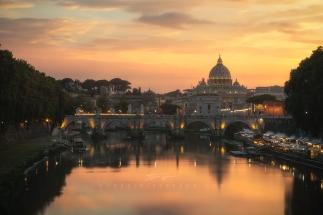 roma-tramonto-vista-san-pietro-by-guerrini-stefano