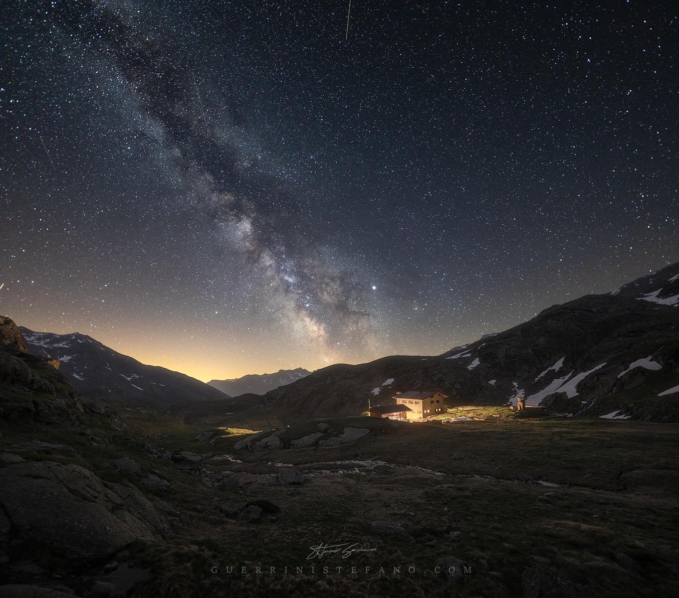 MilkyWay Rifugio Dorigoni val di Rabbi Trentino Guerrini Stefano